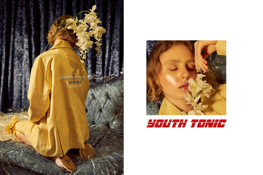 YOUTH TONIC Candy is Dandy Editorial Capsule Collection Fashion Photography Milan Based
