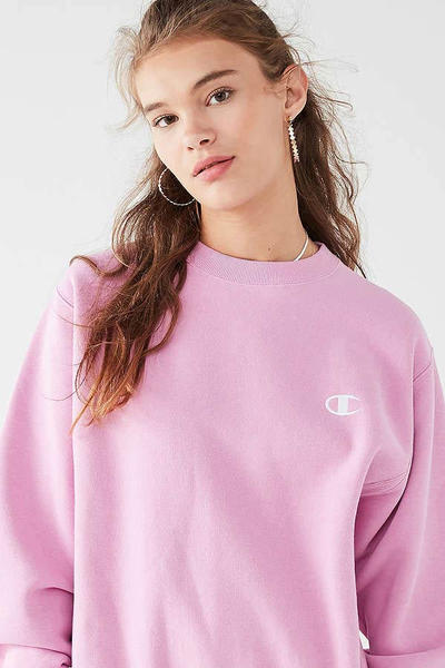 Champion Urban Outfitters Reverse Weave Pullover Sweatshirt Rose