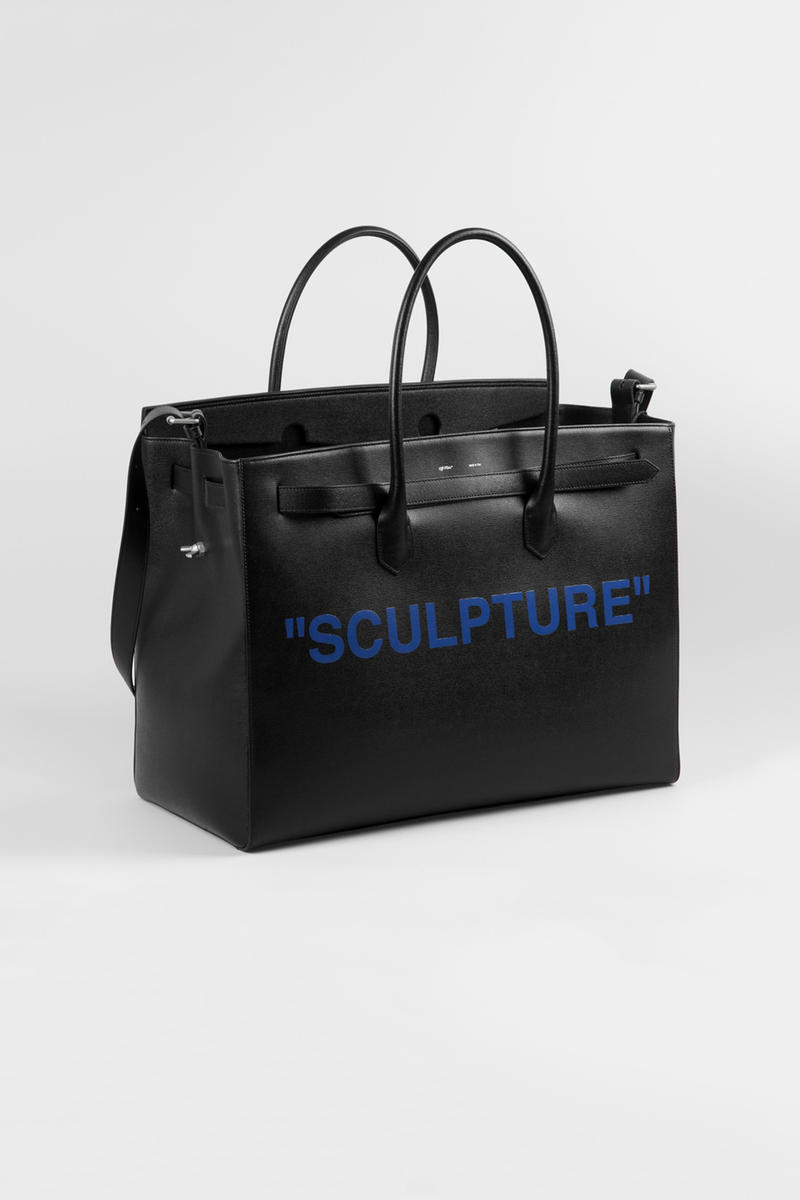 Off-White colette Sculpture Capsule Collection FIAC Paris 2017 Collaboration Bag Heels Hoodie Tshirt Industrial Belt Blue