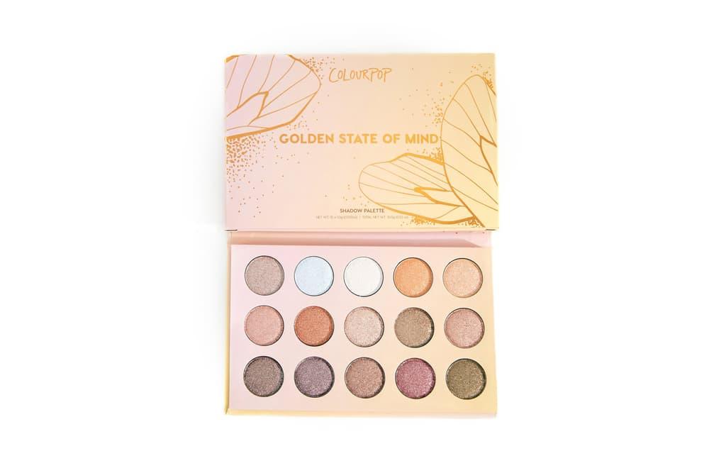 ColourPop Golden State of Mind Shadow Palette Glitter