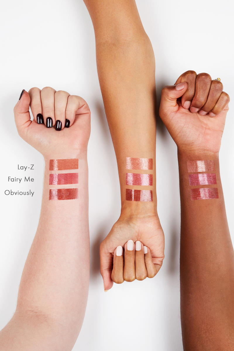 ColourPop Sephora Lipgloss Makeup Beauty Collection Duo Chrome Shade  Fairy Me Obviously Lay-Z Gold Pink Beige Nude