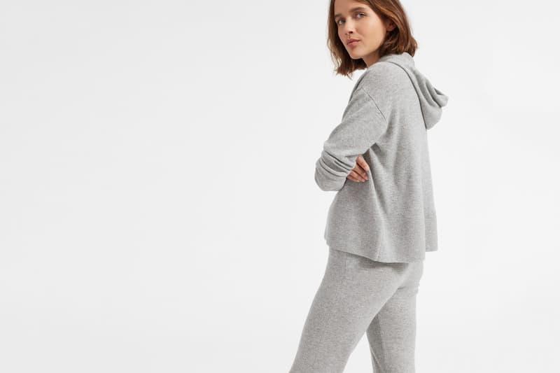 Everlane Cashmere Sweatshirt Sweater Sweatpants Hoodie Cozy Fall Colorful Soft Luxury Pink Grey Green Black
