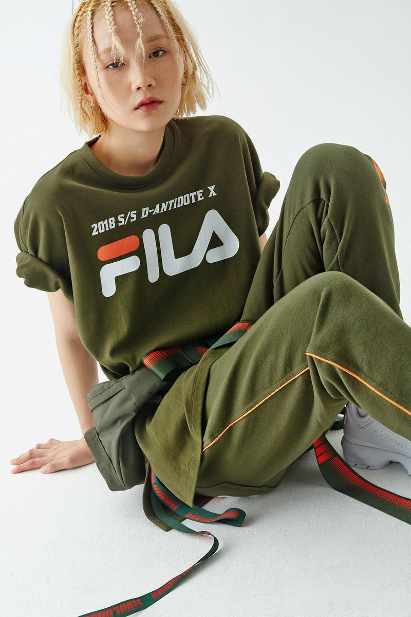 FILA D-ANTIDOTE Spring Summer 2018 Collection Collaboration Korea K-Fashion Lookbook