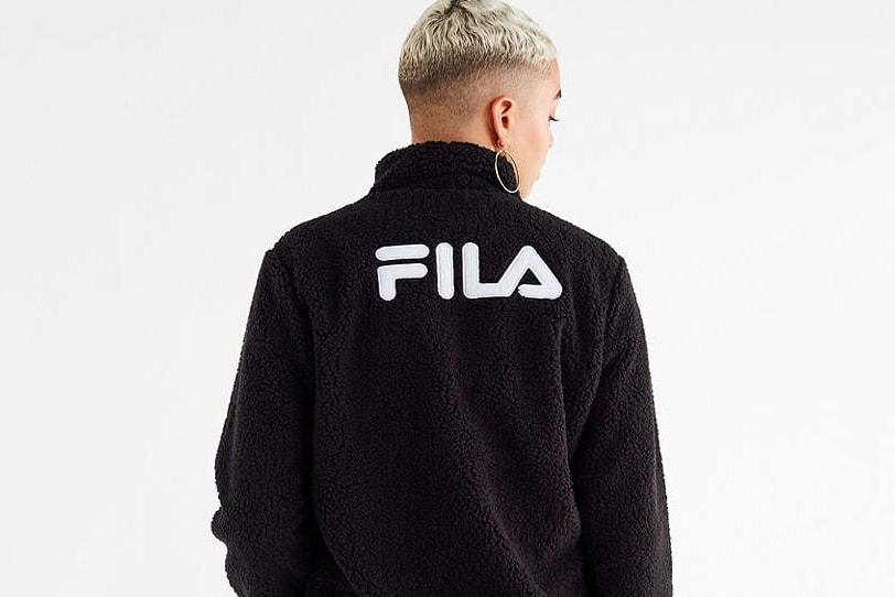 fd734253 Shop FILA's Stevie Sherpa Zip Jacket in Black | HYPEBAE