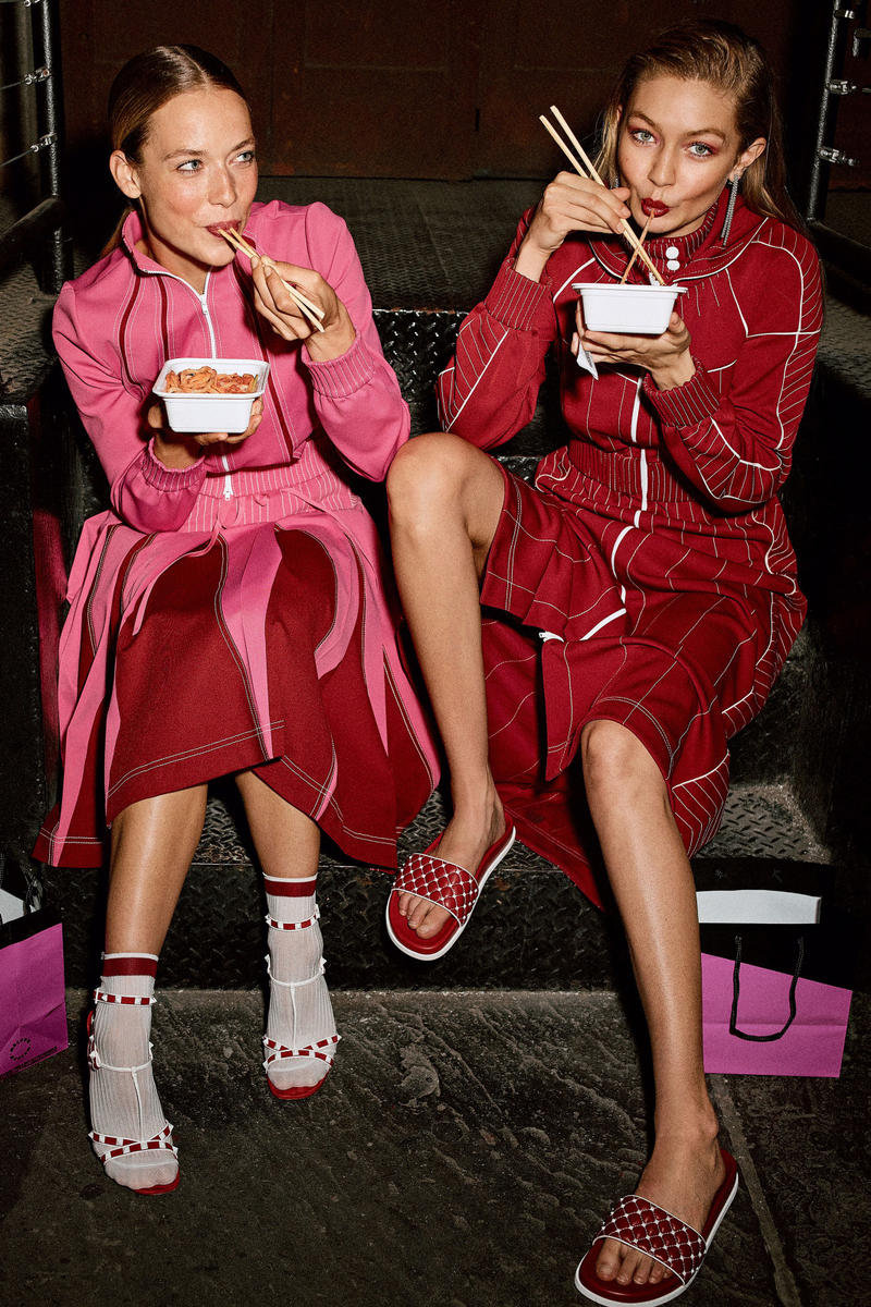 Gigi Hadid Vogue Editorial Athleisure Look Fashion Outfits Style Sporty Prada Marc Jacobs Off-White Reebok Calvin Klein Valentino Y/Project Ambush Miu Miu