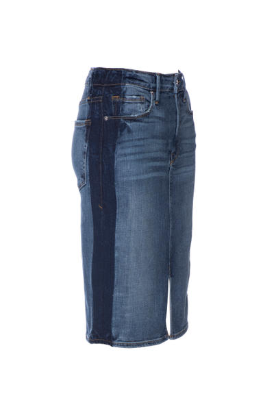 Good American Denim Jeans Khloe Kardashian Season 5 Shorts Skirt Blue Indigo Inclusive Sizes Range