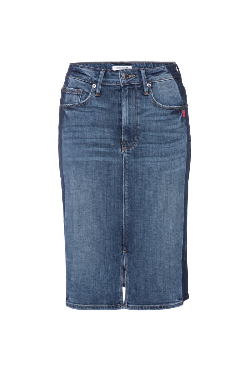 Good American Denim Jeans Khloe Kardashian Season 5 Shorts Skirt Blue Indigo Inclusive Sizes Range
