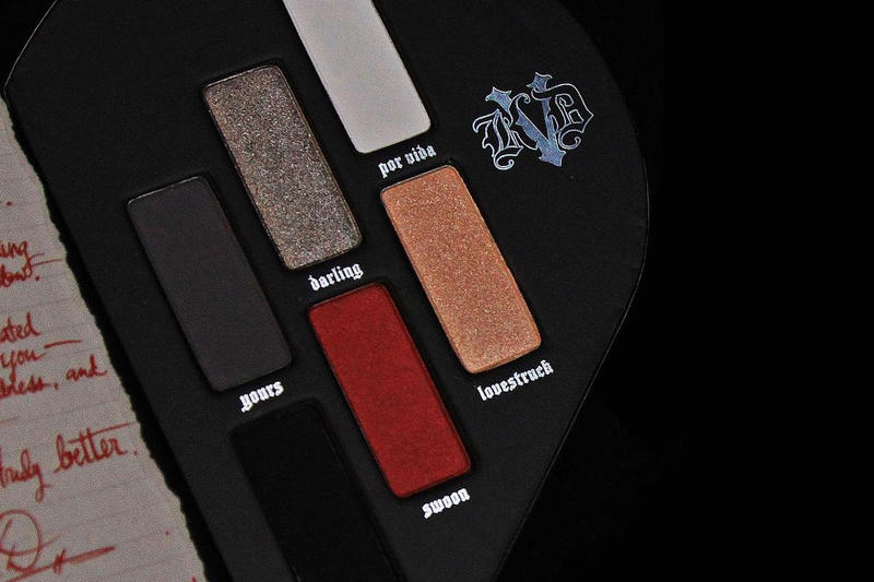 Kat Von D Makeup Beauty Eyeshadow Palette Swoon Red Glitter Metallic Deep Blood Burgundy