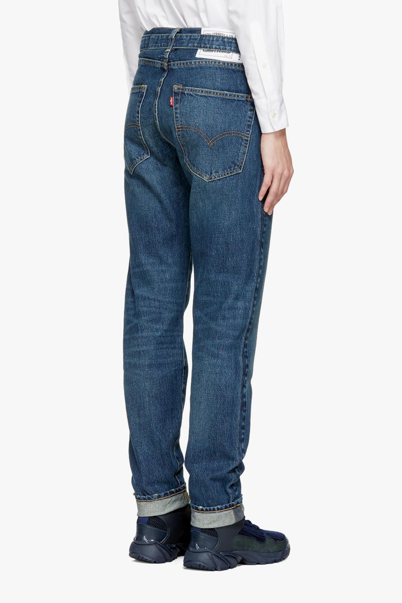 Sacai Levis Limited Edition Denim Collection Indigo SSENSE Jeans Jacket Pants Shorts Navy Blue Classic