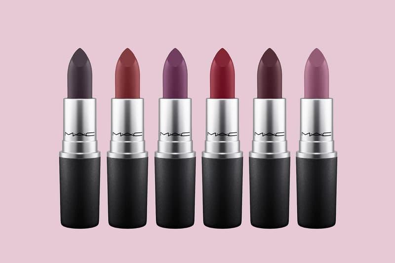 MAC Velvet Matte Lipstick Collection Vampy Dark Burgundy Purple Black Shimmer Glitter Fall Winter 2017 Halloween