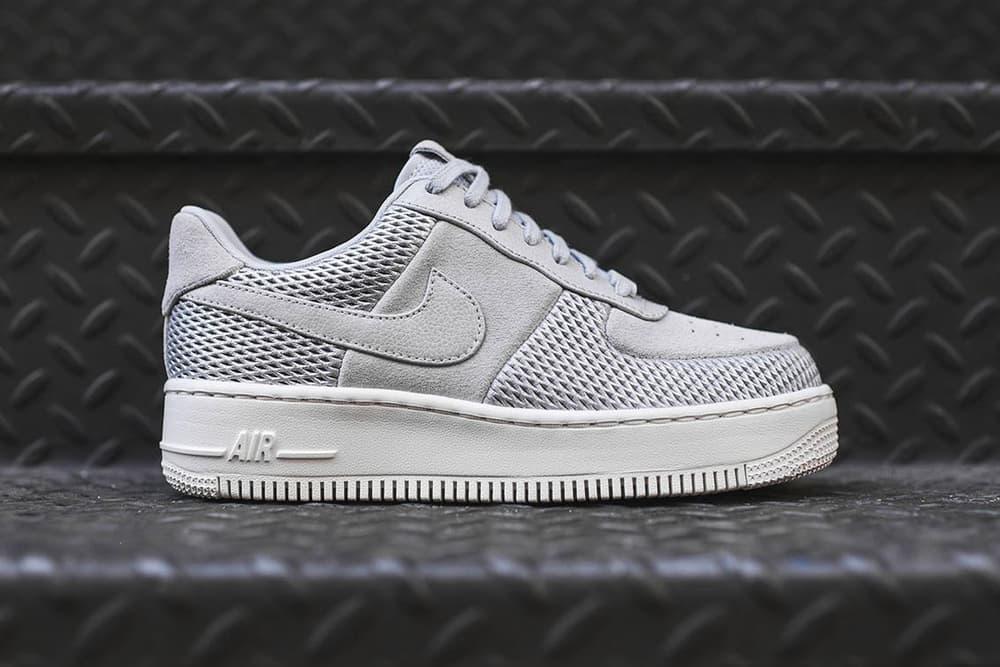 Nike Air Force 1 Upstep Low Premium Grey White