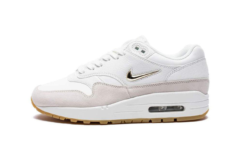 info for f7f8b 24cb4 Nike Air Max 1 SC Jewel Summit White Metallic Gold Star Wolf Grey Pewter