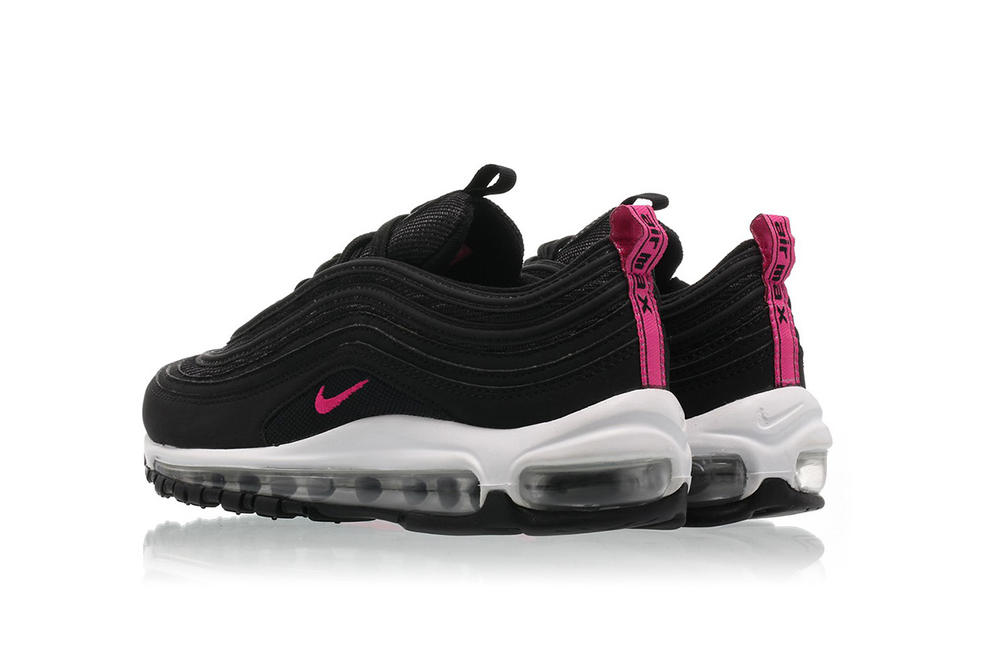 Nike Air Max 97 Neon Pink Black Sneaker Footwear Shoe Airmax White Black Neon Pink Titolo