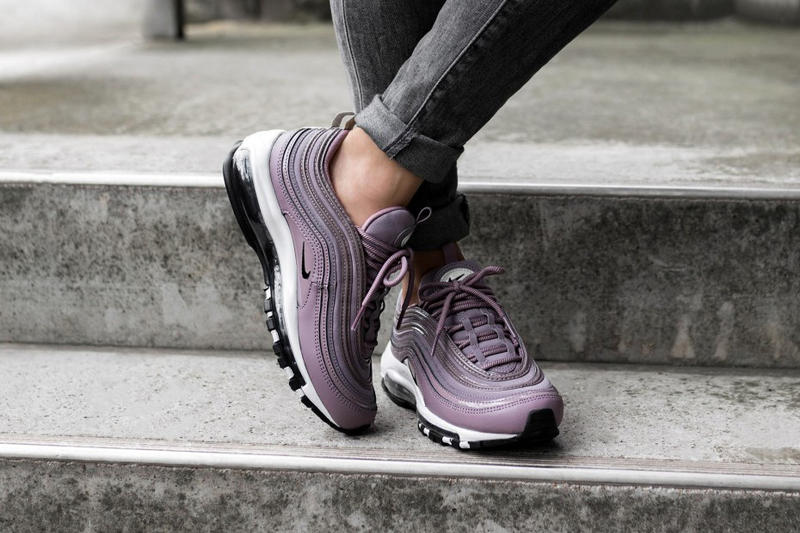 new styles bd136 6aed2 Nike Air Max 97 PRM Taupe Grey Lilac Pastel Purple