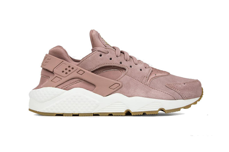 4a500421b16e Nike Air Huarache Run SD Particle Pink Sneaker Footwear Classic Sporty Gum  Sole White Suede Pastel