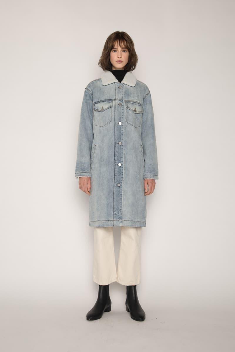 OAK + FORT Sherpa Denim Jacket Collection Indigo Fleece Lined Coats Dark Wash Winter Clothes Outerwear