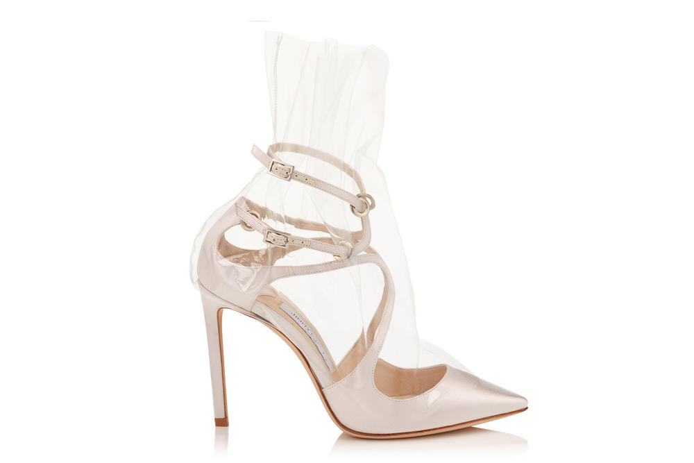 Off White Virgil Abloh Jimmy Choo Heels Boots Collaboration Glass Slippers Pre Order Paris Fashion Week Spring Summer 2018 Princess Diana Naomi Campbell Kaia Gerber
