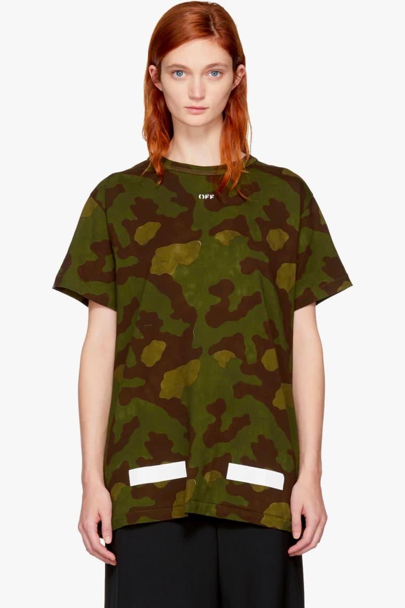 Off White Hoodie Tshirt Jacket Camo Green Black Virgil Abloh