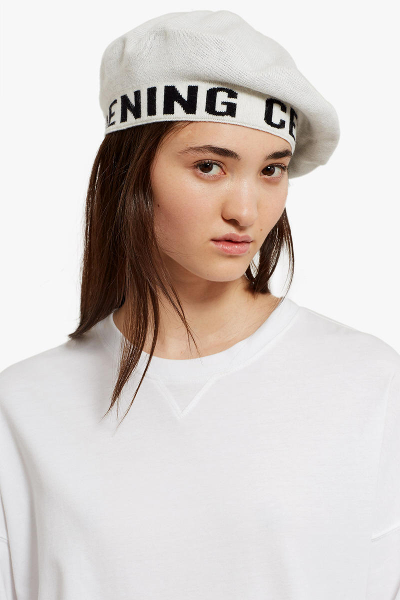Opening Ceremony Logo Beret Red White Black Fall Winter