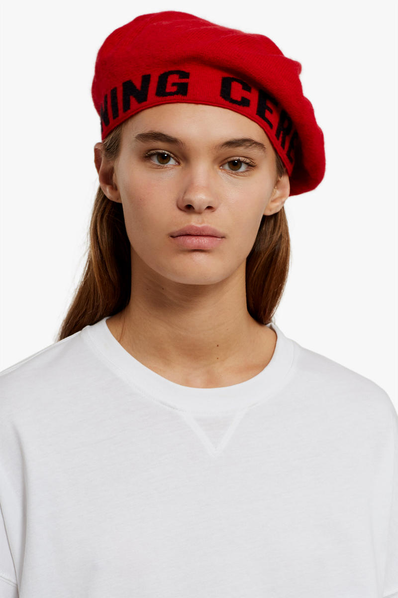 74d5eb5ec84 Opening Ceremony Logo Beret Red White Black Fall Winter