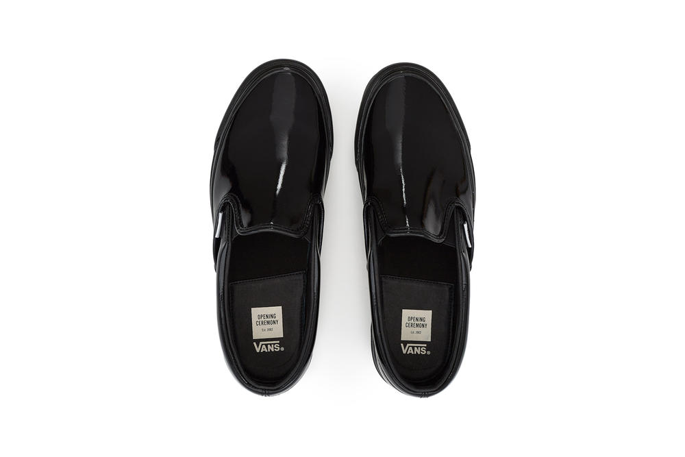 Opening Ceremony Vans Slip On Patent Pack Glossy