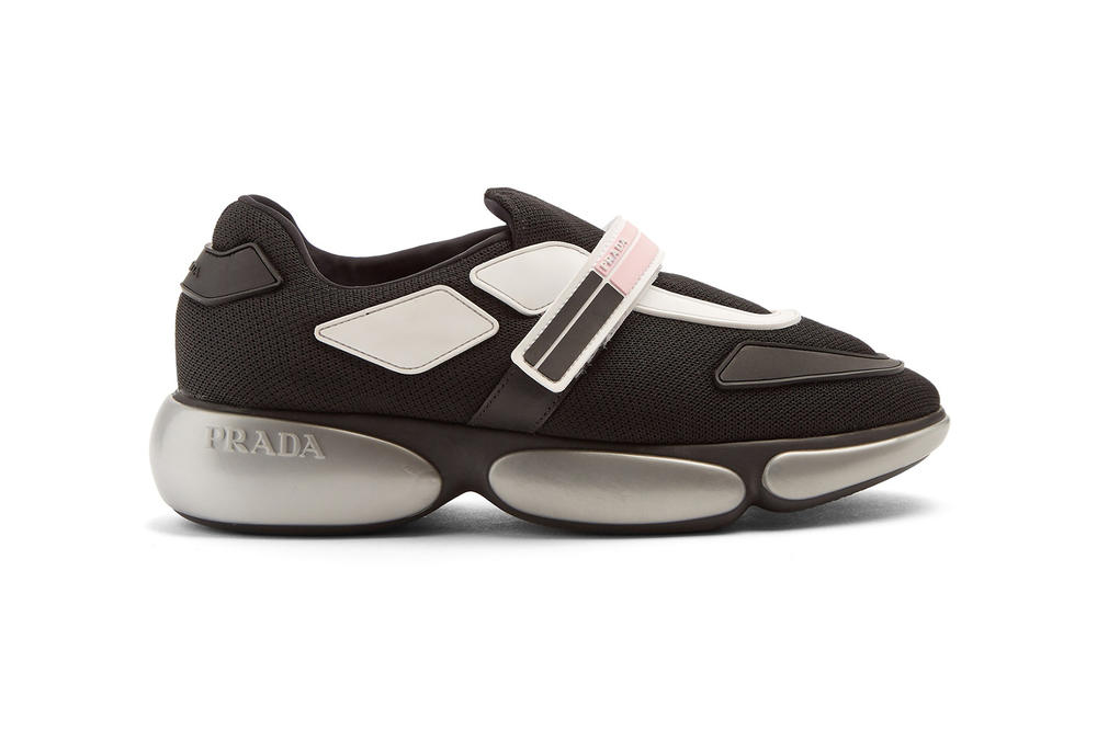 Prada Cloudbust Mesh Trainer Black Pink