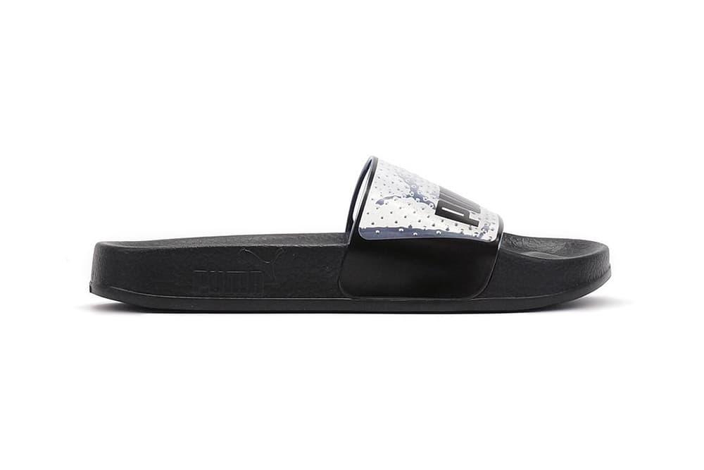 PUMA Leadcat Jelly Slides Black White