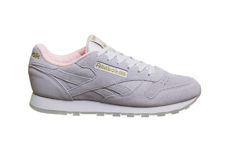 Reebok Classic Leather Lucid Lilac Pink Fluffy Sneakers