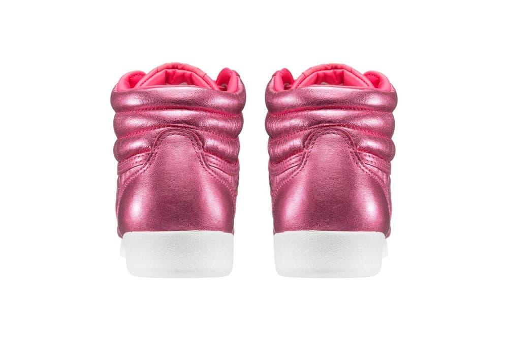 Reebok Freestyle Hi Sharp Pink Metallic