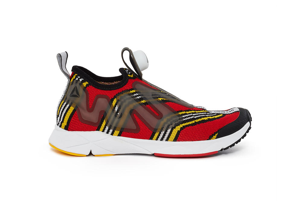 Opening Ceremony Reebok Pump Supreme Shoe OC Silhouette Footwear Sneaker Red White Black Psychedelic Pattern