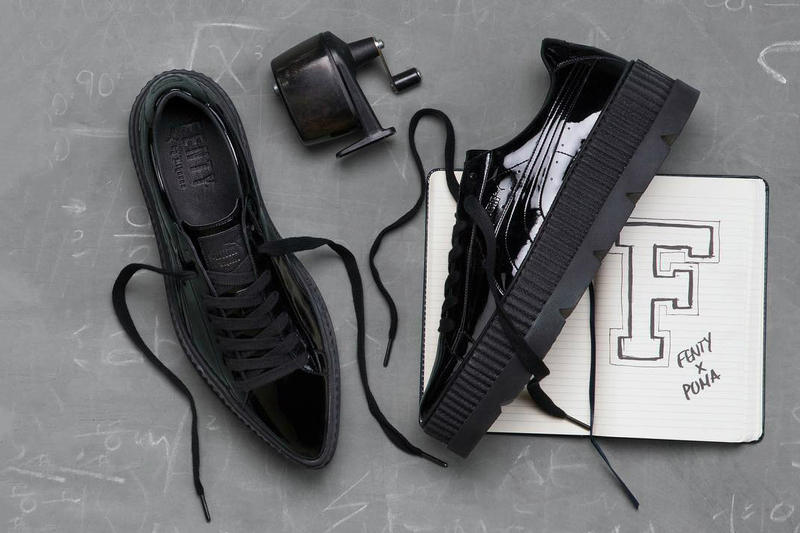 Rihanna Fenty PUMA Pointy Creeper Black Patent Leather University Fall Winter 2017