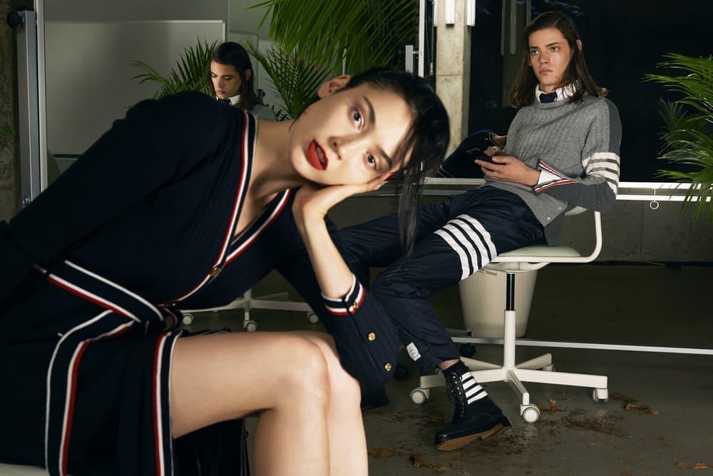 Thom Browne Fall/Winter 2017 SSENSE Editorial Modern Office Corporate Influence Fashion Lookbook Girlboss Workspace Workplace Look