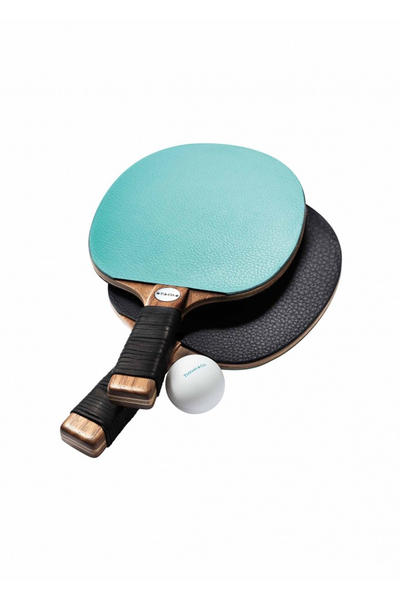 Tiffany Co Home Accessories Collection Ping Pong Table Tennis Cup Blue Ruler Straw Silver Gold Decor