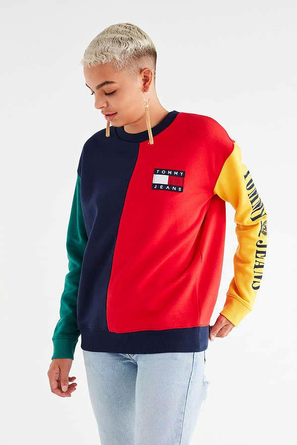 3e8199b3 Tommy Jeans '90s Colorblock Sweatshirt. 1 of 2. Urban Outfitters