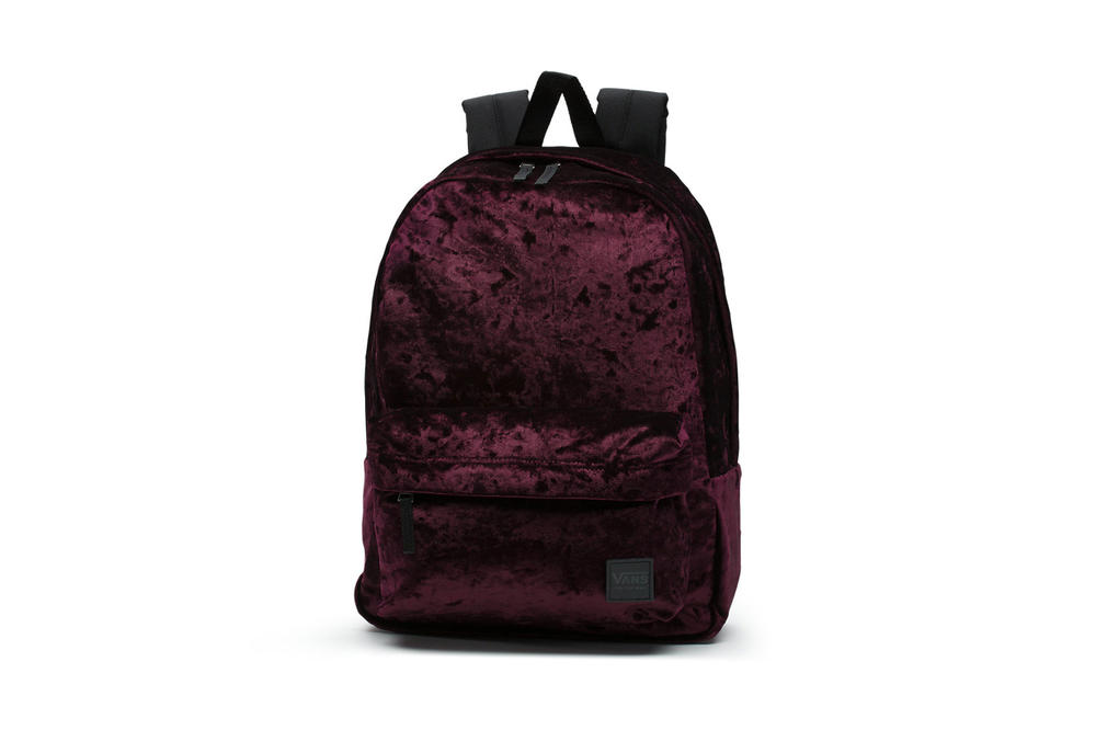 52675f19e2 Vans Lined Its Deana Backpack With Maroon Velvet