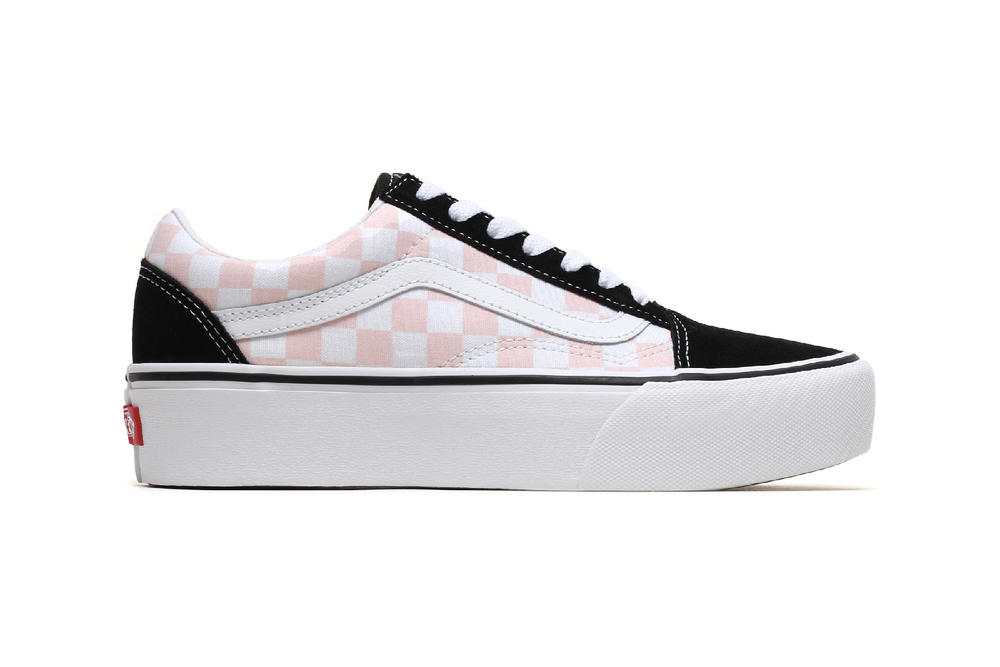 1e3ead08149416 Vans Old Skool Platform Pink Black White Checkerboard