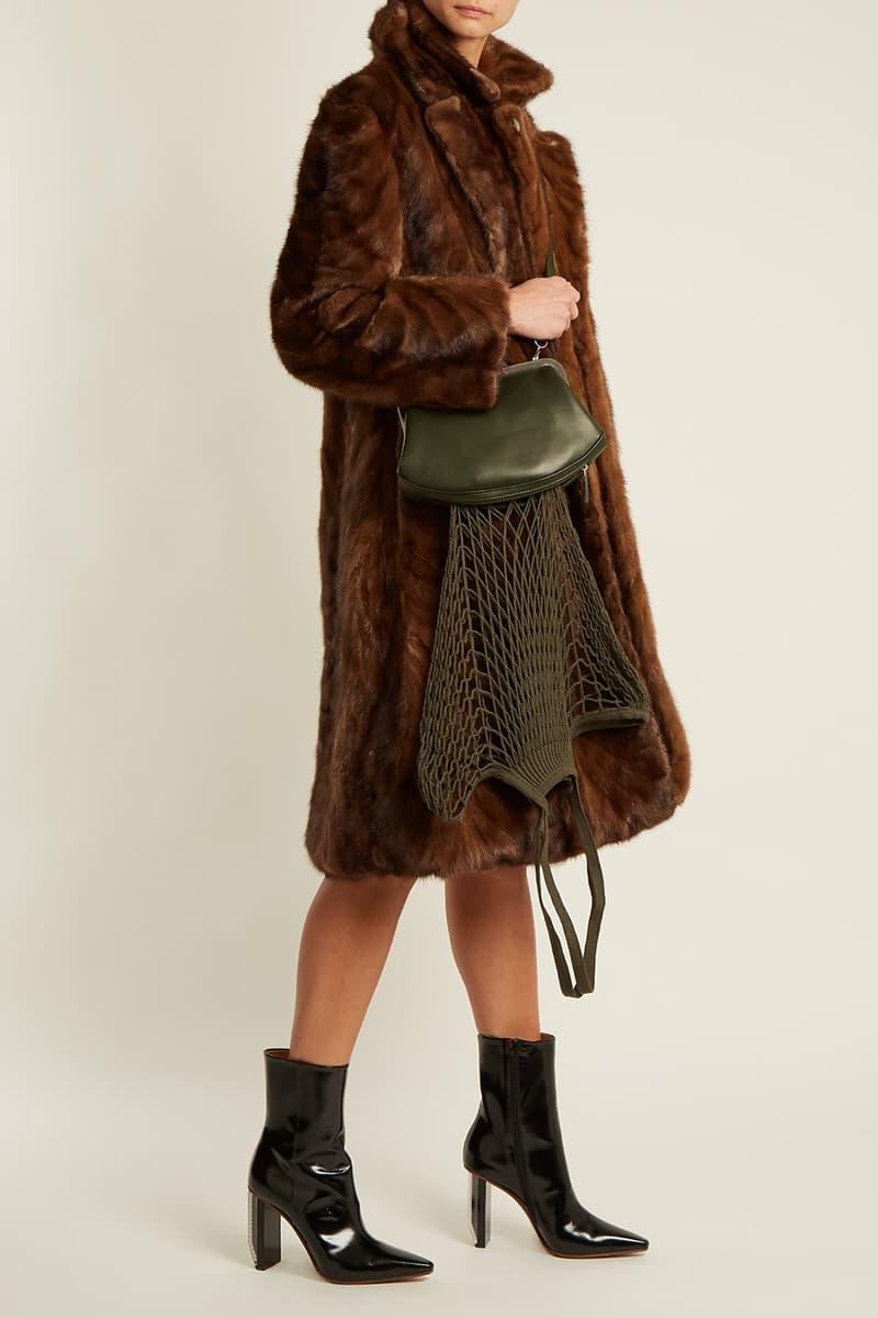 Vetements Granny Leather Bag Grocery Crossbody Blue Black White Green 2017 Fall Winter Demna Gvasalia