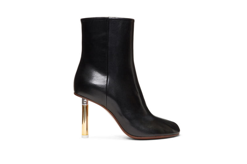 Vetements Lighter Heel Sock Ankle Boots Gold Silver Green Black SSENSE Knee High Sock Boots Gold