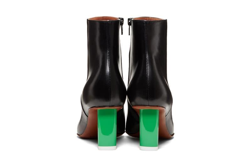 Vetements Lighter Heel Sock Ankle Boots Gold Silver Green Black SSENSE Knee High Sock Boots Gold