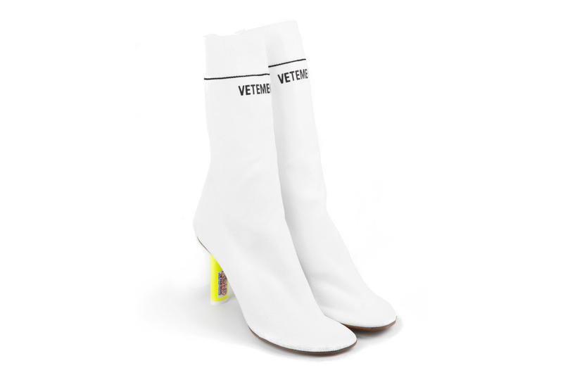 Vetements Lighter Sock Boots Heels Unique Iconic Demna Gvasalia Black White Blue Glitter Shoes Footwear Colette