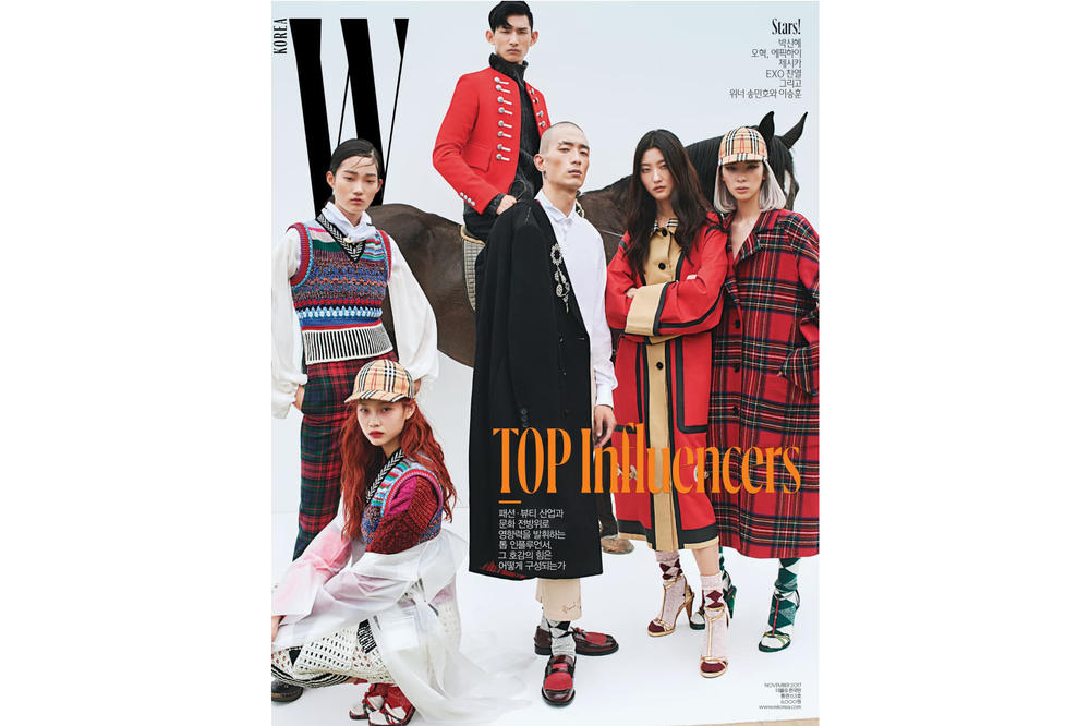 Irene Kim Burberry W Korea November 2017 Cover Top Influencers Sora Choi Mulan HoYeon Jung Ji Hye Park