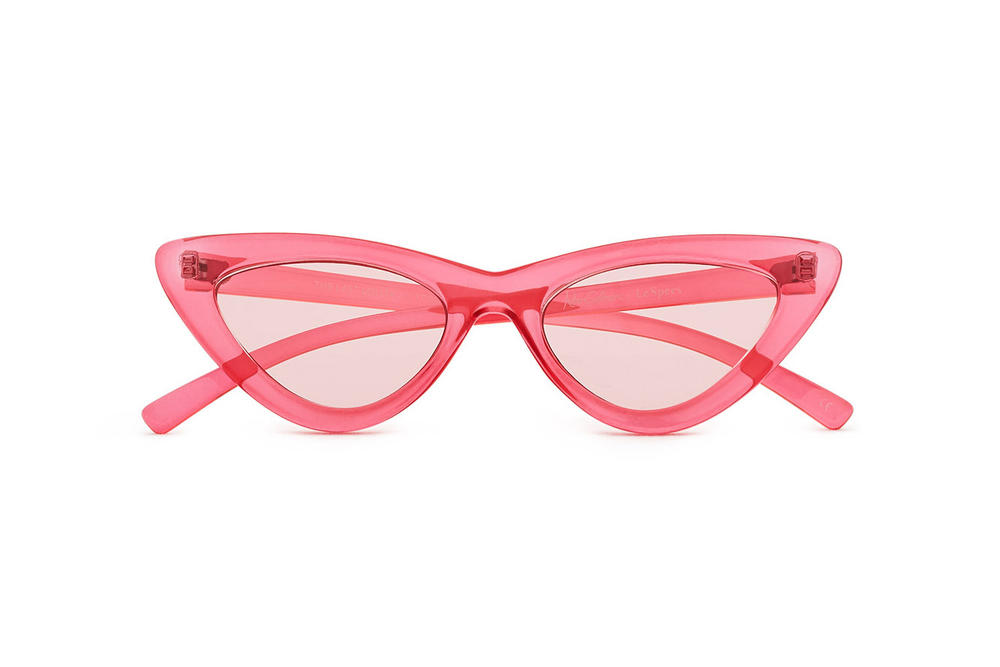 Adam Selman x Le Specs Last Lolita Sunglasses Red Shiny White