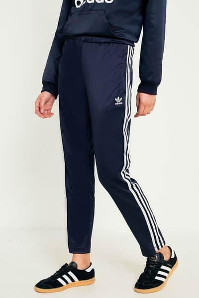 adidas Originals Europa Satin Trefoil Hoodie Track Pants Navy