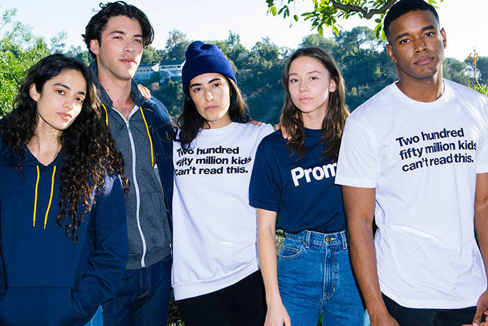 American Apparel Charity Capsule Collection Pencils of Promise Education Reading Guatemala Ghana Laos