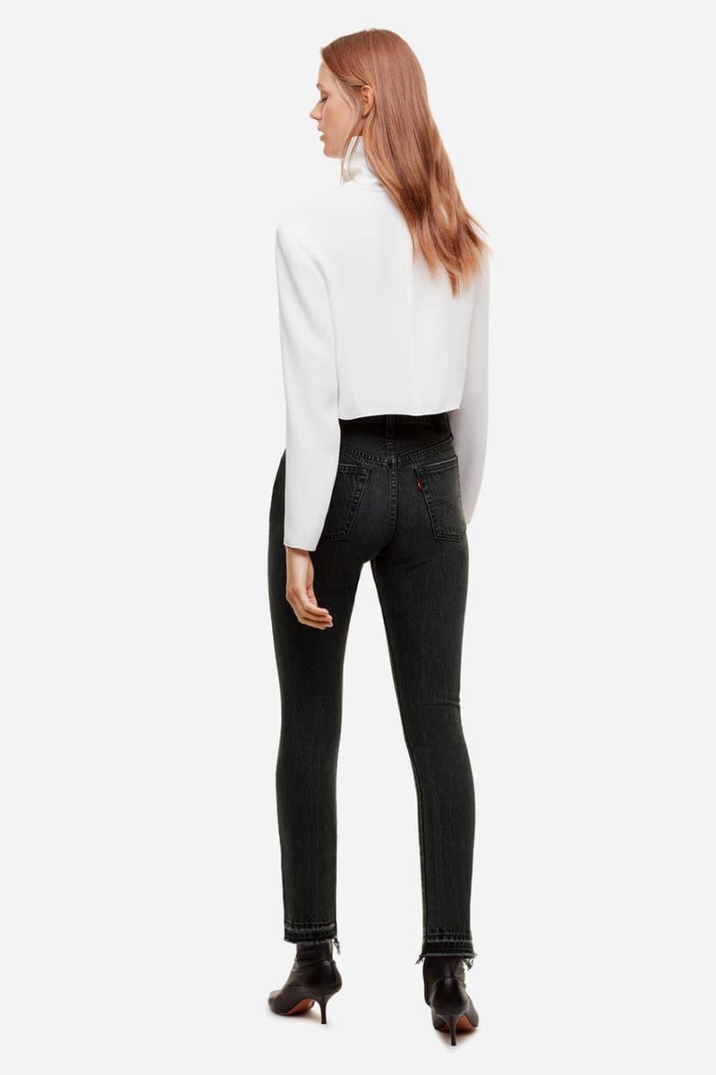 Aritzia Levis Vintage Inspired Jeans Denim Collection 501 Wedgie