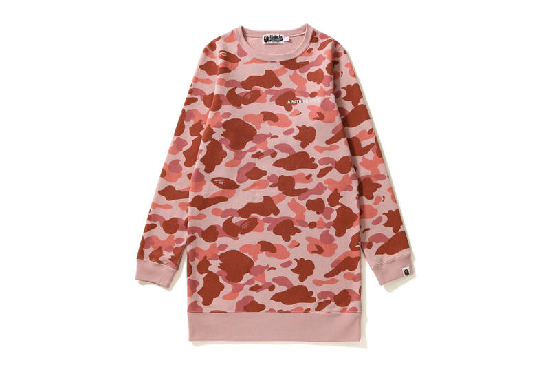 BAPE A Bathing Ape Camouflage Pieces Camo Pink Millennial Pink Pieces Hoodie Sweatshirt Jacket Pattern