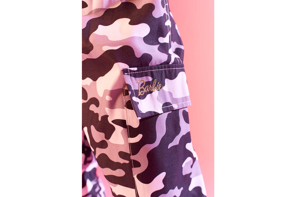 Barbie Missguided Second Collaboration Camo Satin Pyjamas Tshirt Pants Fur Coat