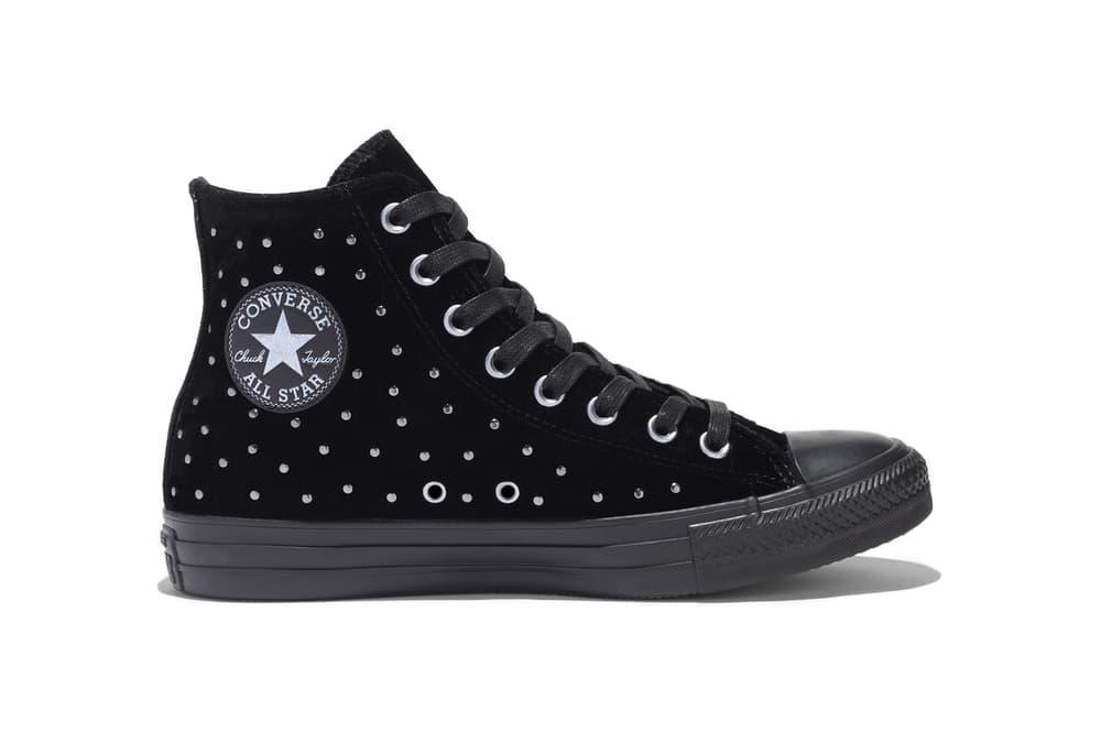Converse Chuck Taylor All Star Velvet Studs Sangria Blue Black Fur Rose Grey
