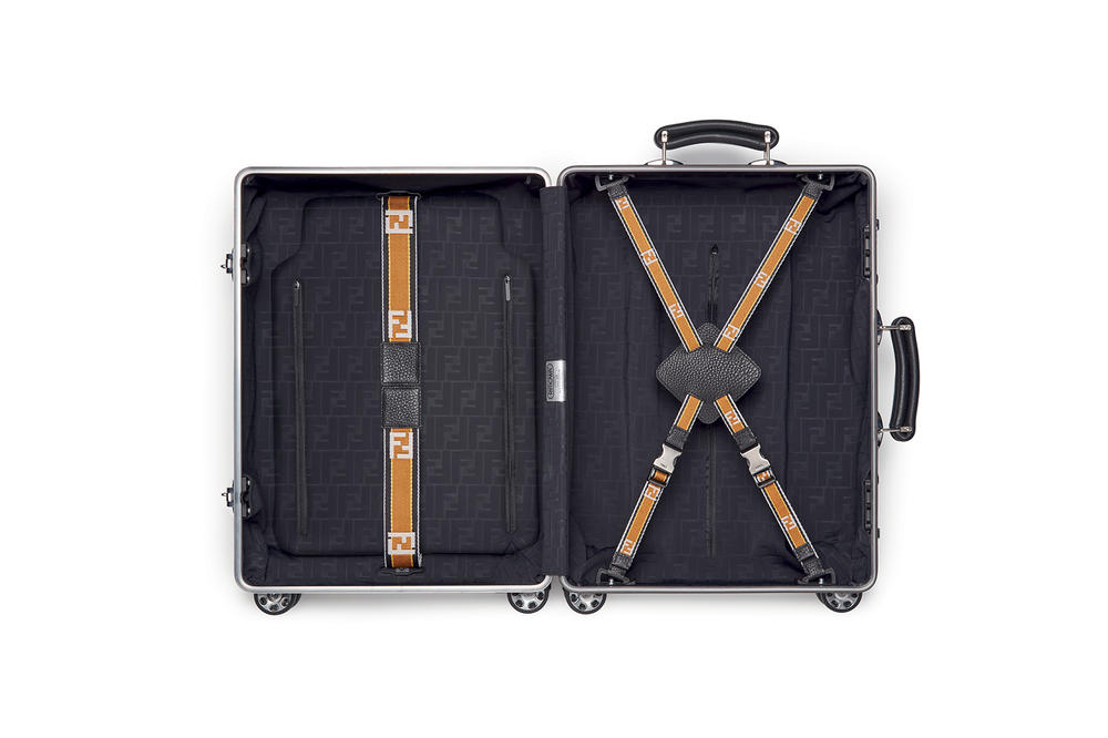 Fendi x RIMOWA Suitcase Luggage Aluminum Trolley