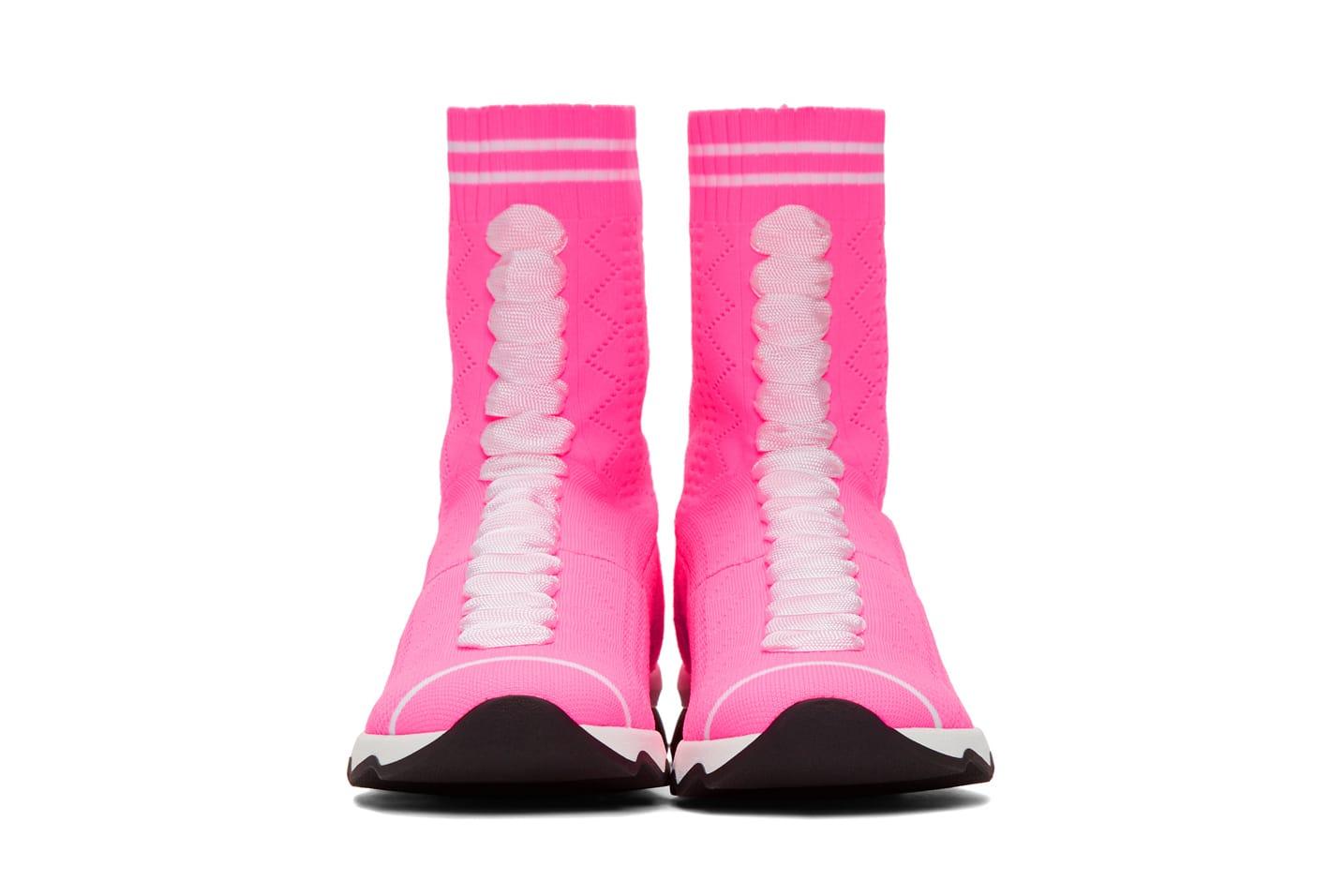 Fendi Black and Pink Glitter Sock
